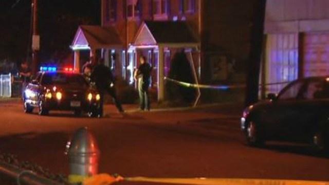 Two men shot on Cherry Street in Hartford on Wednesday evening. (WFSB)