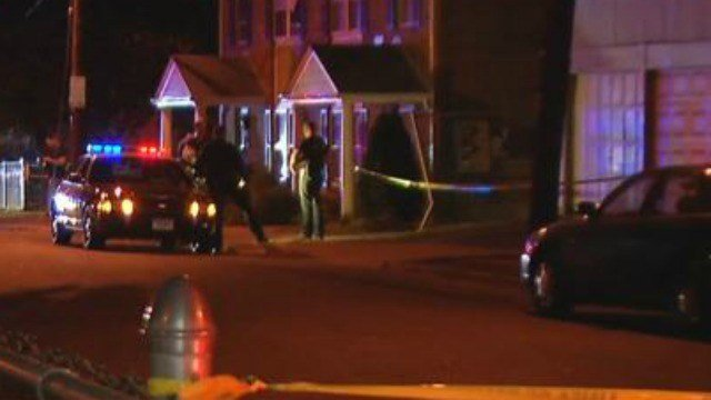 Two men shot on Cherry Street in Hartford on Wednesday evening. (WFSB)