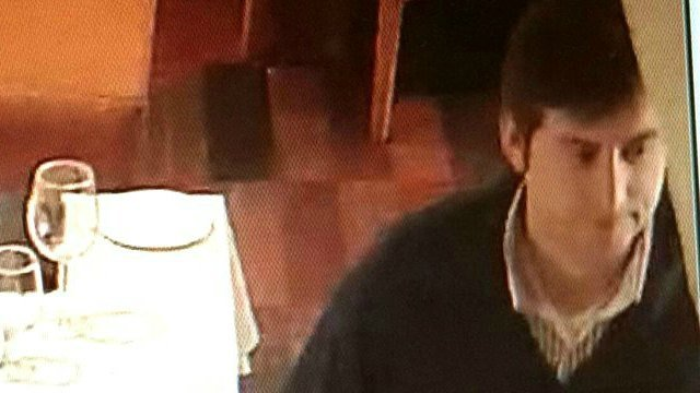Police said they are searching for this man accused of stealing wine. (Groton Police Department Facebook)