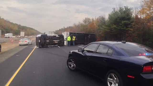 Crash closes I-84 east in Union (CT State Police)