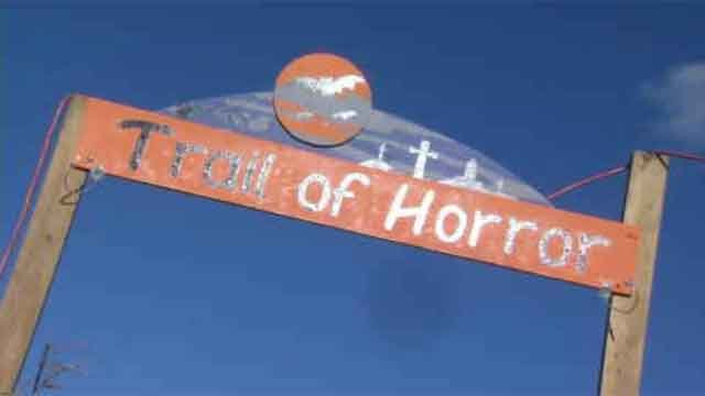 Neighborhood haunted trail raises funds for animal shelter, canned goods (WFSB)