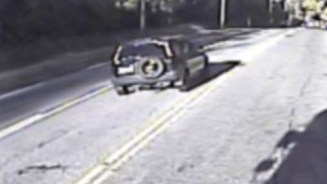 The following SUV wanted in a police impersonation case was located by police. (Groton police photo).