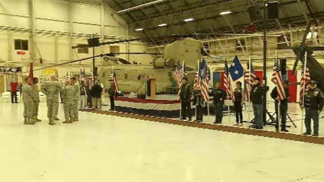 Army National Guard unit being deployed (WFSB)