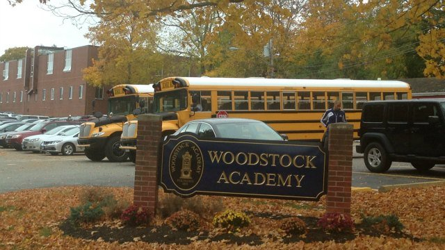 "Students, teachers and staff at Woodstock Academy were told to ""shelter in place"" on Wednesday. (WFSB)"