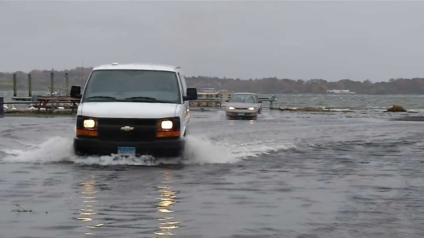 Flooding in West Haven. (WFSB photo)