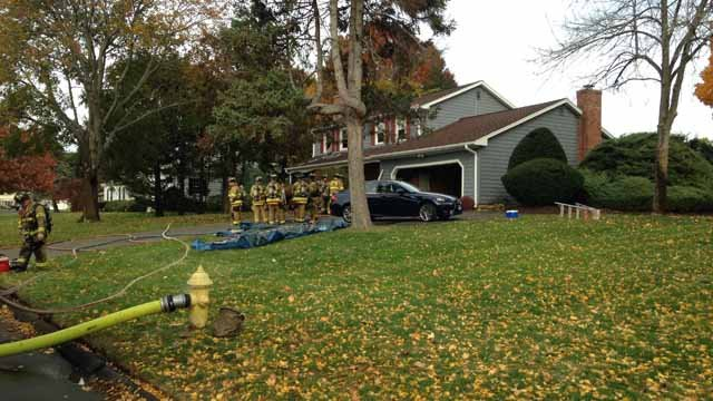 A home in North Haven has been deemed unsafe after a fire broke out on Thursday afternoon. (WFSB)