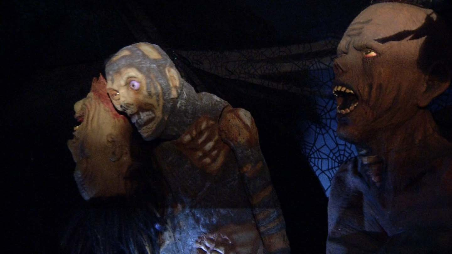 Neighbors set up competing haunted houses on Sun Street in Enfield. (WFSB photo)