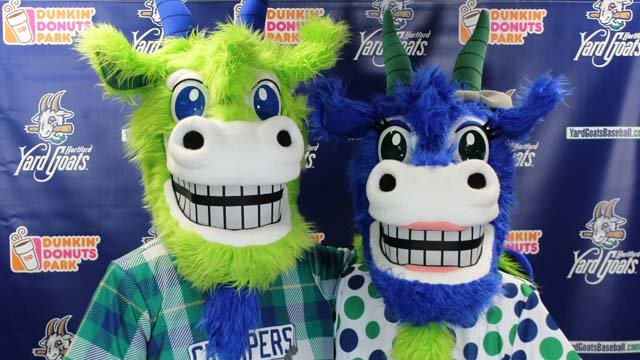 39 chew chew 39 and 39 chompers 39 unveiled as yard goats mascots for Capital city motors jackson ms