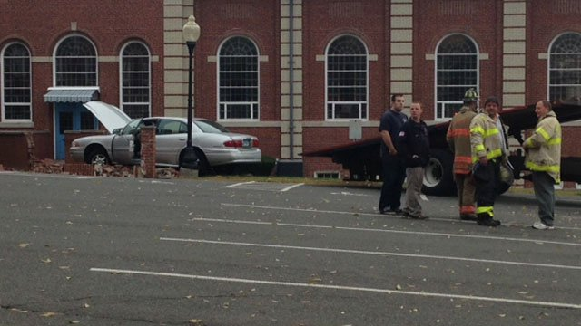 The church services were just finishing when the crash occurred. (WFSB)