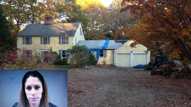 Jennifer Valiante is set to face a judge on Monday after the bodies of her boyfriend's parents were found in this vacant Weston home. (Police/WFSB photos)