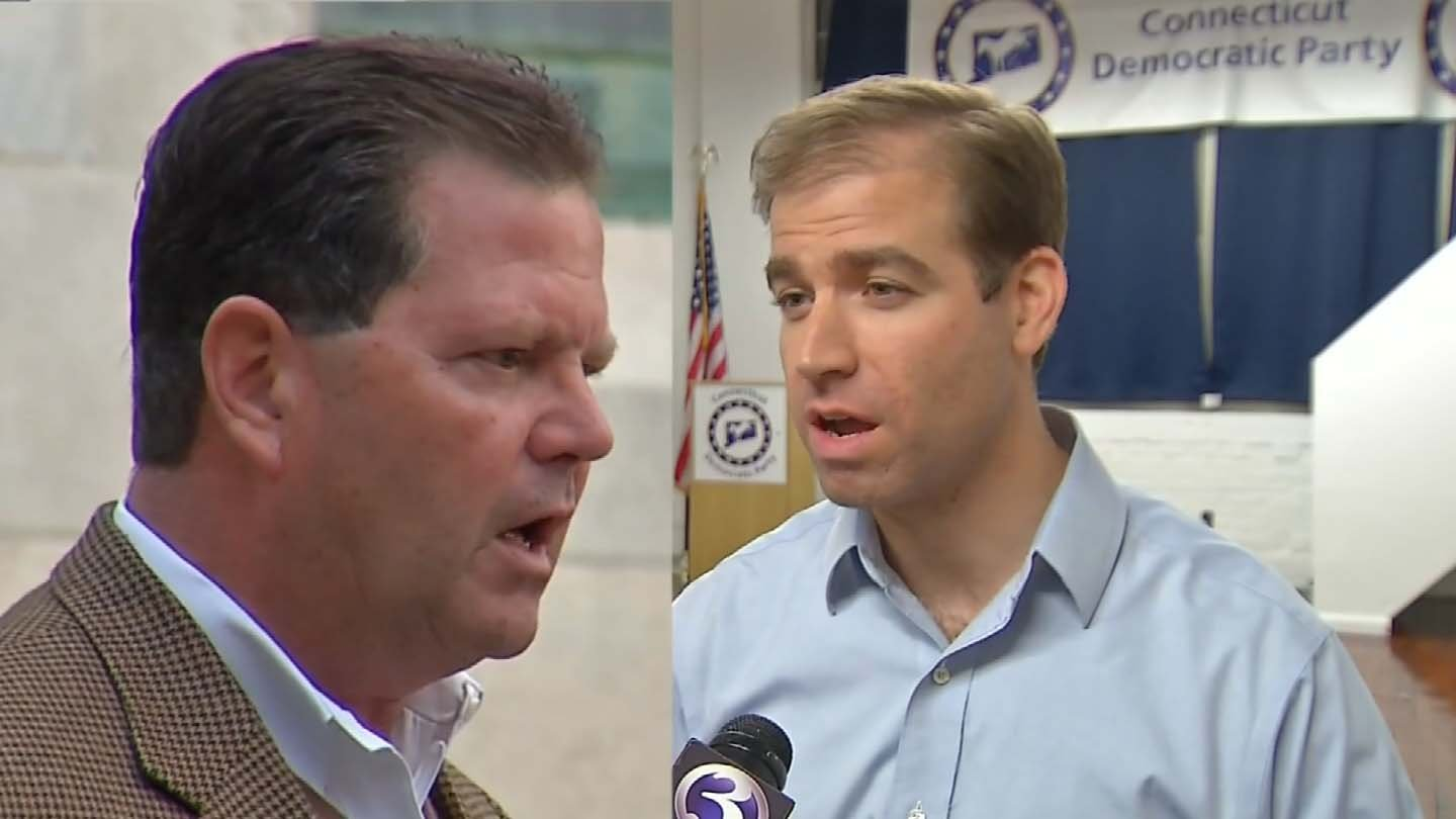 Republican Ted Cannon (left) and Democrat Luke Bronin (right) are vying for Hartford's mayoral seat. (WFSB photos)