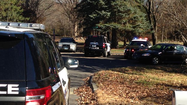 Police are investigating a suspicious death on Tower Road in Middlebury on Tuesday. (WFSB)