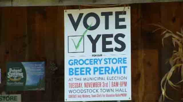Woodstock voters answer question about selling alcohol (WFSB)