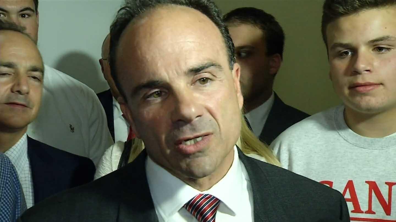 Bridgeport Mayor Joe Ganim was able to collect 32,000 signatures (WFSB photo)