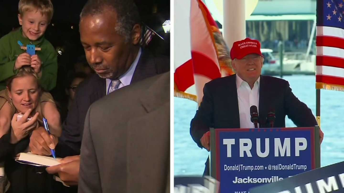 Dr. Ben Carson and Donald Trump are in a virtual tie for the Republican presidential nomination.