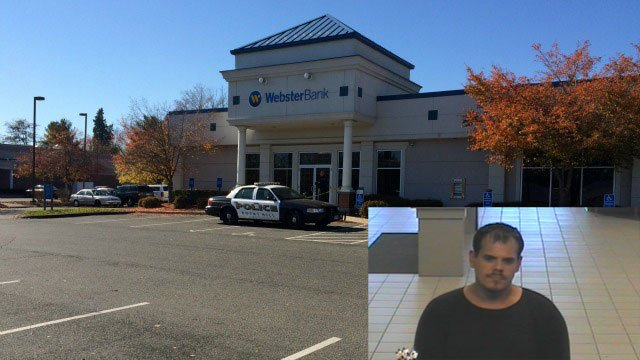 A bank robbery at the Webster Bank in Rocky Hill has led to a lockdown at a nearby elementary school. (WFSB)