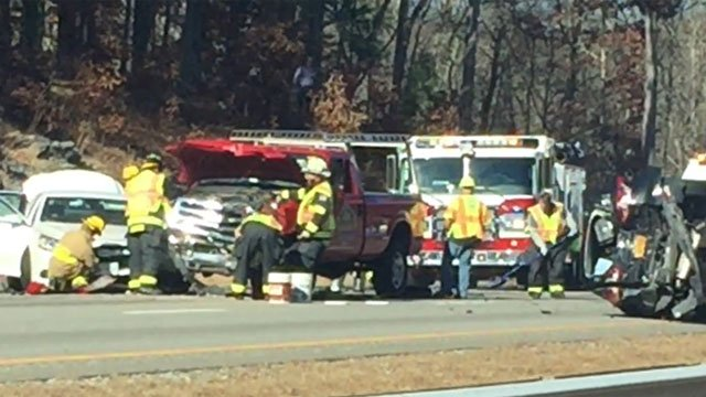 Interstate 395 southbound in Norwich reopened about an hour. (Erik Clement)