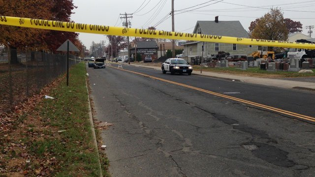 Surf Avenue in Stratford closed after crash on Thursday. (WFSB)