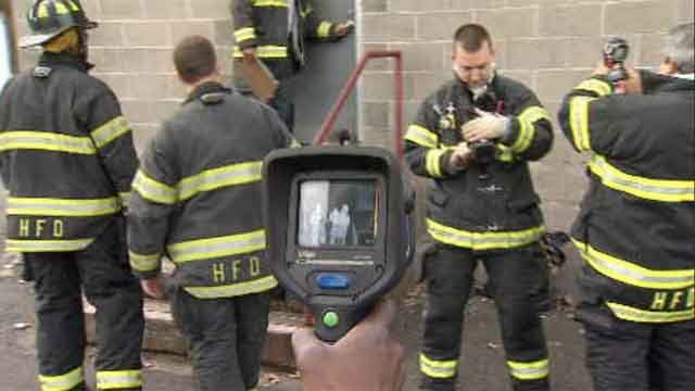 Hartford firefighters using new safety equipment (WFSB)