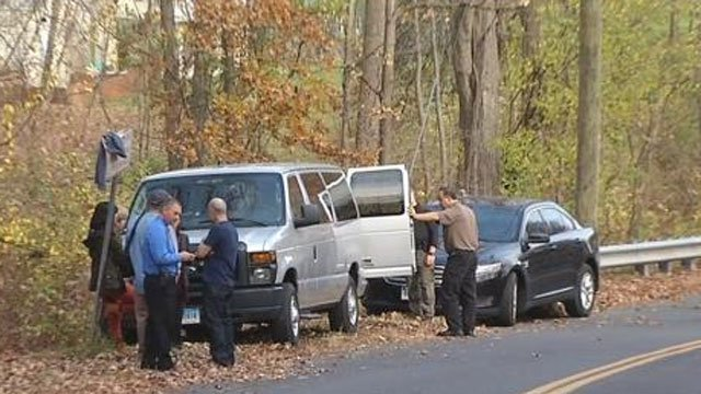 Police searched the area  near Batterson Park Road in Farmington on Friday. (WFSB)