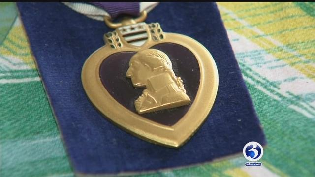 This Purple Heart was finally returned to its rightful owner on Friday. (WFSB)