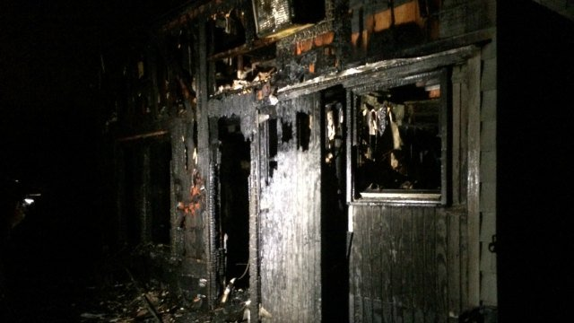 Home at 265 Center Rd. sustained serious damage after Saturday night fire. (WFSB)