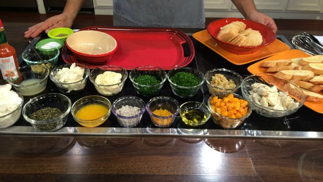 Chef Scott Miller prepares to make roasted butternut squash and local goat cheese crostini. (WFSB)