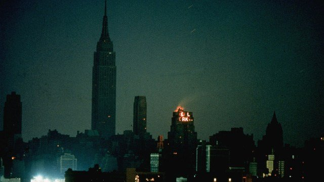 New York City at the height of the blackout. (AP photo)