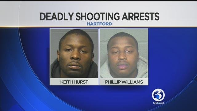 Keith Hurst and Phillips Williams were charged with a Hartford man's murder. (Hartford Police Department)