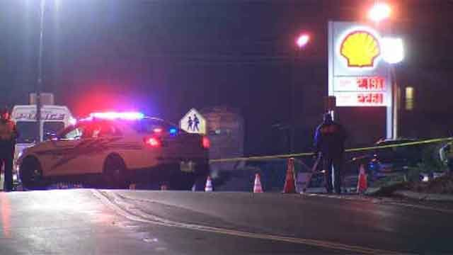 Emergency crews closed part of Route 150 in Wallingford after a woman and a dog were hit by a car (WFSB)