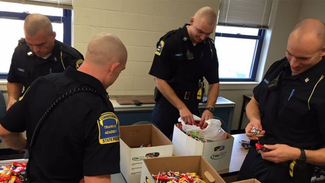 The candy will sent to men and women of the US Armed Forces. (@CT_STATE_POLICE)