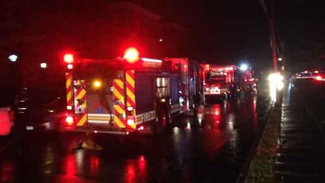Crews battled a fire on Willard Street in Hartford on Tuesday evening. (WFSB)