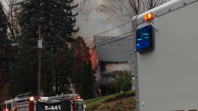 A house fire was reported on High Street near McClean Street in Vernon. (WFSB)