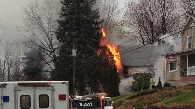 There is no word on what caused the fire. (WFSB)