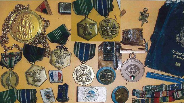 State police released this photo of the recovered medals. (CT State Police)