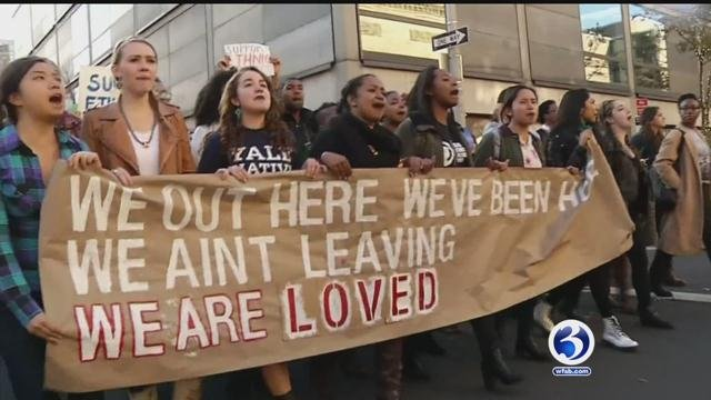 Yale students sent letter to university officials demanding end to racism. (WFSB)