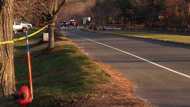 Iron Horse Road was closed on Monday. (WFSB photo)