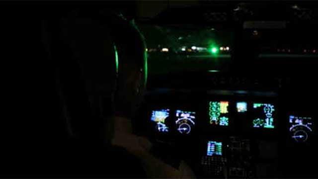 Laser strikes are a huge danger to pilots, passengers (FBI demonstration video)