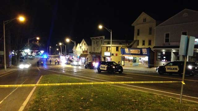 Meriden police are investigating after a person was hit by a car on East Main Street on Tuesday evening. (WFSB)