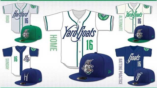On Tuesday, the Hartford Yard Goats Baseball Club unveiled its uniforms. (Yard Goats)