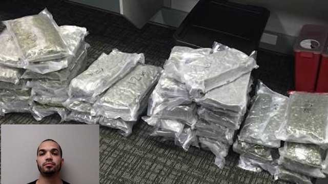 Sixto Bautista was arrested after police seized 44 pounds of marijuana (Manchester police)