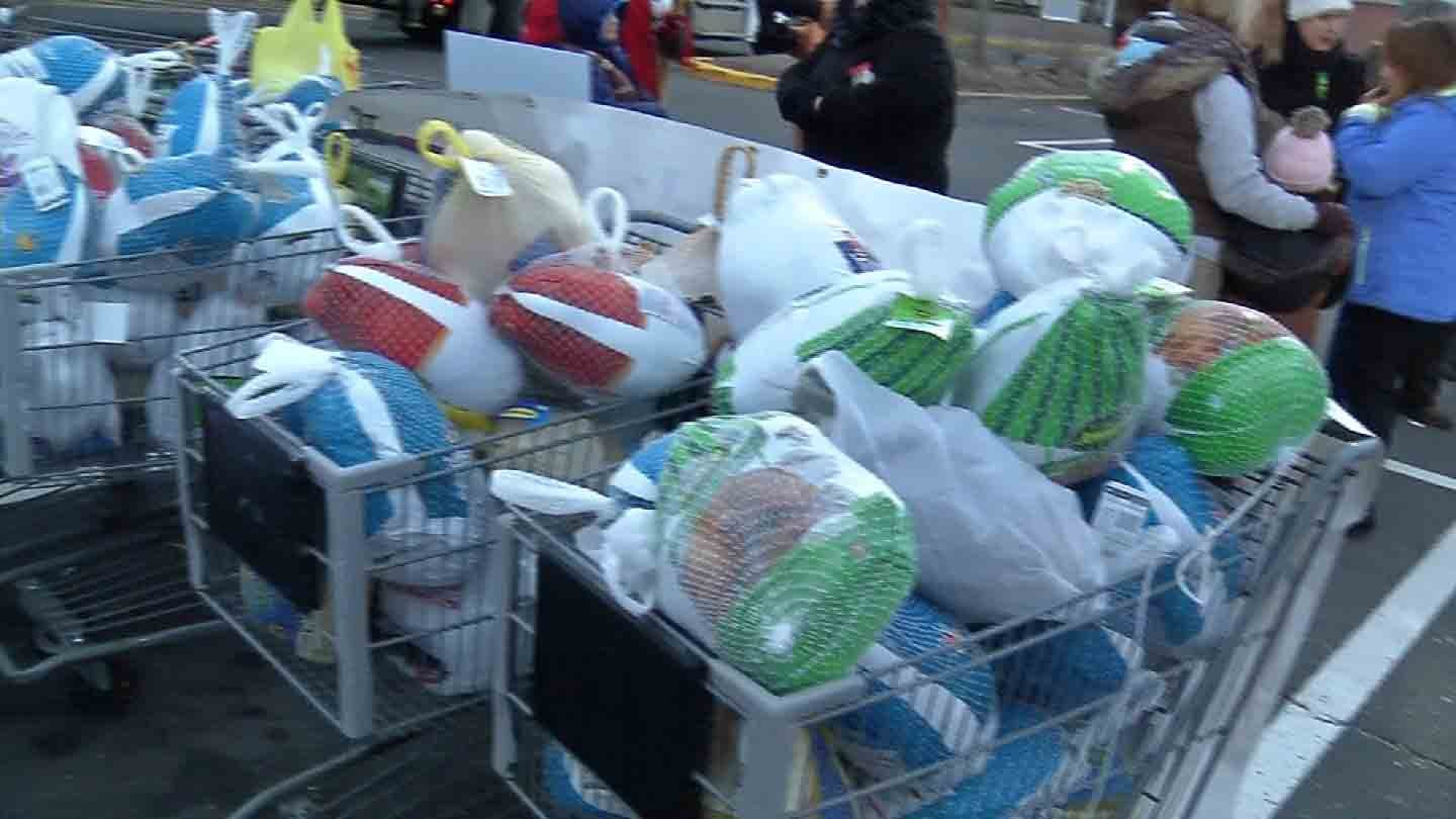 Foodshare said it took in more than 5,000 turkey donations as of Wednesday afternoon. (WFSB photo)