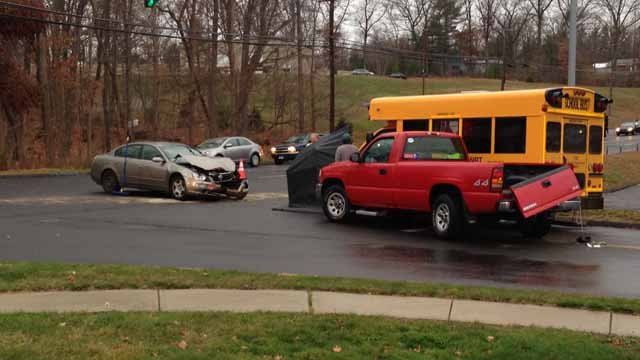 No injuries reported in Southington school bus crash (WFSB)