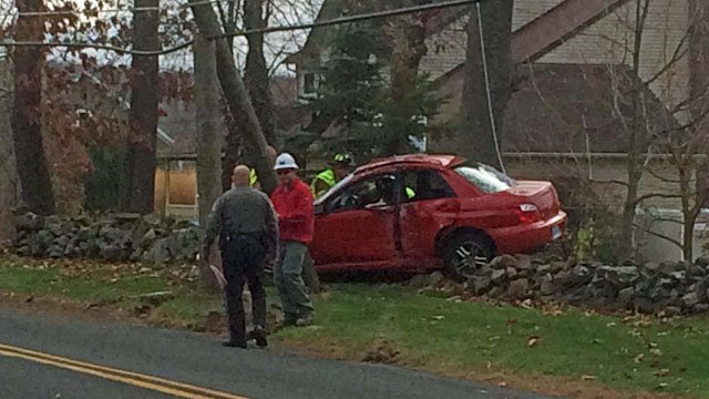 Crash was reported on Tripp Road in Ellington (iWitness)