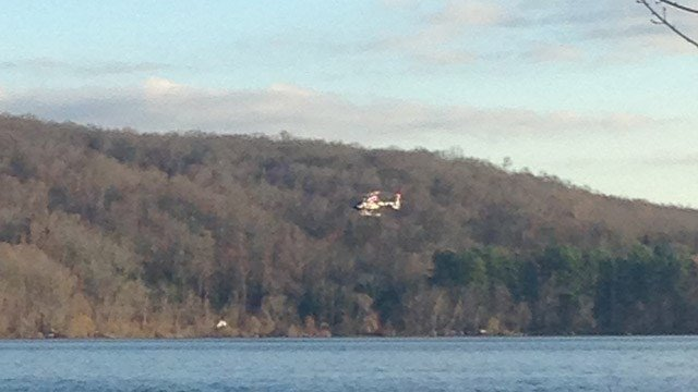Helicopters were spotted searching for the plane. (WFSB photo)