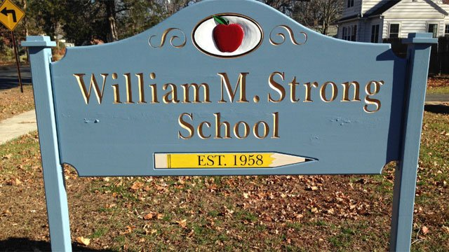 Strong School was without power for a brief period of time on Friday. (WFSB)