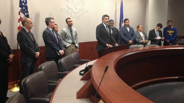 Interfaith leaders came together to condemn terrorists attacks around world. (WFSB)