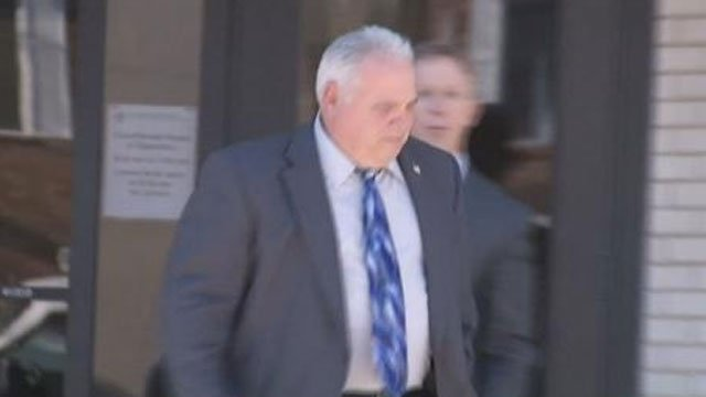 Patrick McMahon leaving New London Superior Court after the decision. (WFSB)