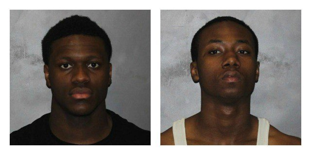 Tobias Elliot and Rahik Harris charged with trying to rob UNH student. (West Haven Police Department)