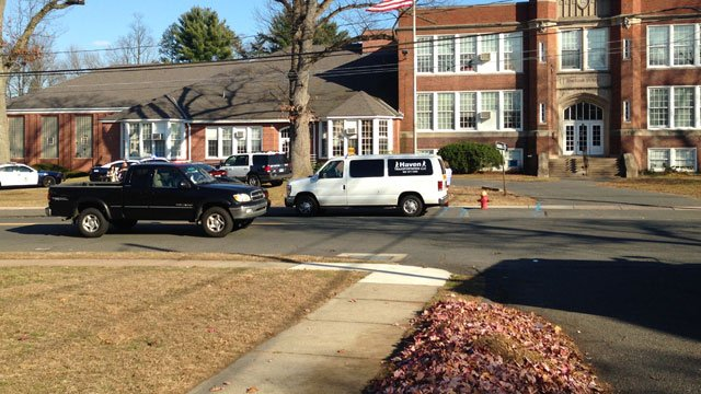 One student was knocked out during the fight, sources told Eyewitness News. (WFSB)